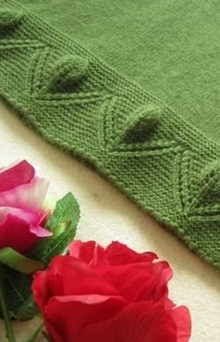 leafy flower edging knitting pattern