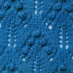 Leaves with bobbles stitch