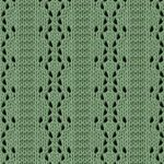 Parallel Lace Panel knitting stitch