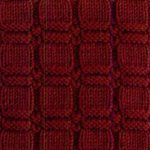 Textured squared knit and purl stitch
