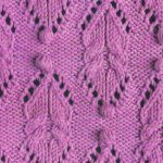 Cable eyelet bobble motif knitting stitch