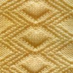 Diamond Relief Free Stitch Knitting Pattern