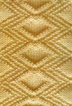 Diamond Relief Free Stitch Knitting Pattern - Knitting Kingdom