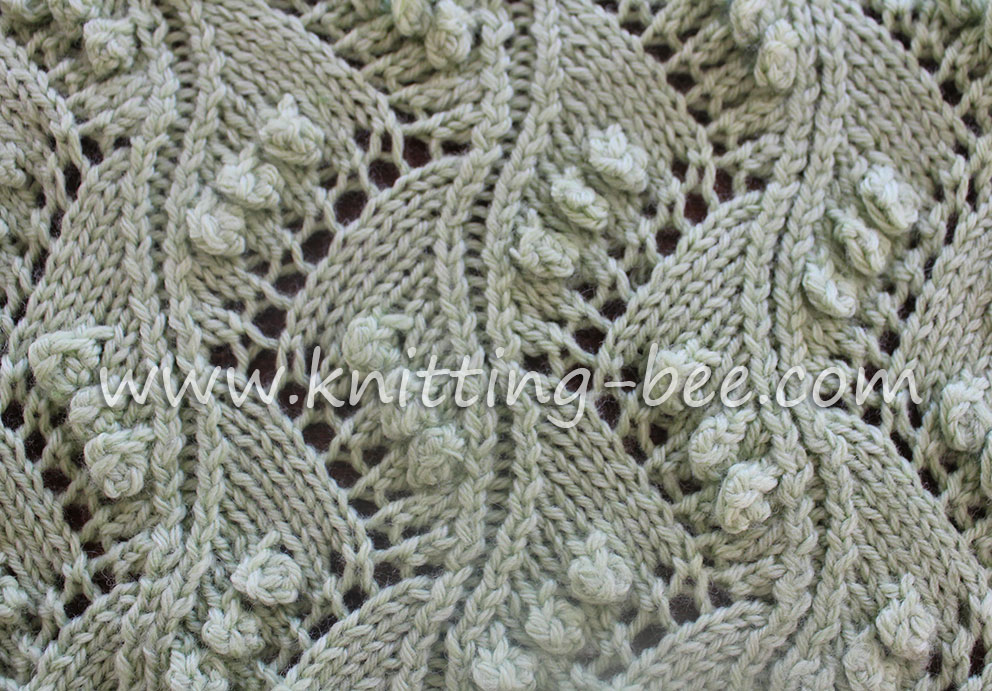 Knitting Lace Design : Chevron lace with bobbles knitting kingdom