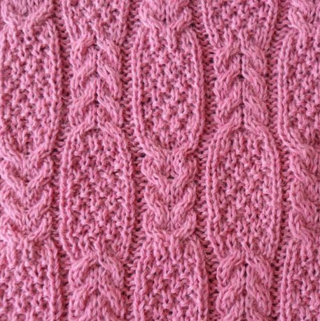 Moss Stitch Cable Stitch Knitting Kingdom
