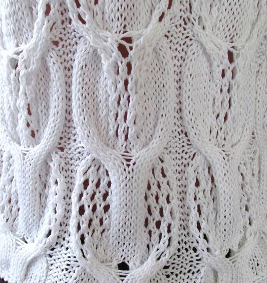 Cable Lace Knitting Stitches : Eyelet cabled knitting stitch - Knitting Kingdom