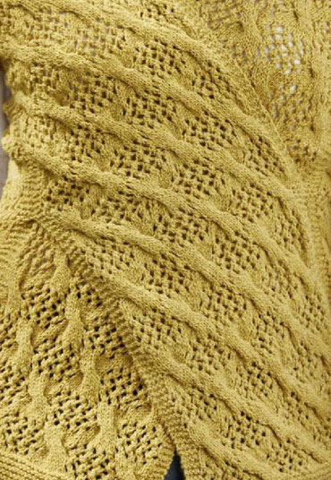 Cable Lace Knitting Stitches : Checkered Cable and Lace Knitting Stitch - Knitting Kingdom
