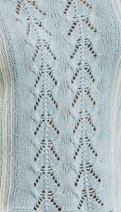 Lace Panel Knitting Stitch 1