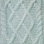 Argyle cable motif knitting stitch