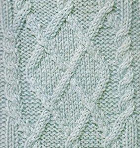 Argyle cable motif knitting stitch