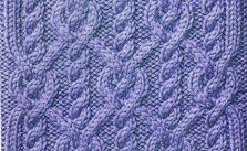 Continuous Cable knit stitch ornate pattern