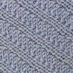 Diagonal Knit & Purl Knit Stitch