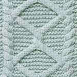 Diamonds and garter stitch cabled knitting