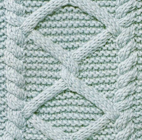 diamonds-and-garter-stitch-cabled-knitting