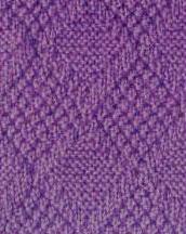Diamonds and textured Free Knit Stitch
