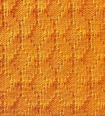 Framed Triangles Free Knit Stitch Pattern