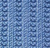 Garter Stitch and Ribbing Knit Stitch