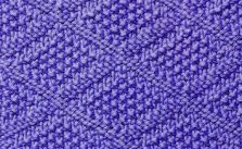 Moss Stitch Diamond Knitting Stitch