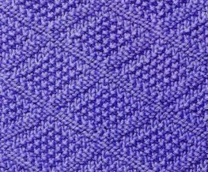 Moss Stitch Diamond Knitting Stitch