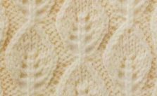 Vertical Leaf Lace Knit Stitch
