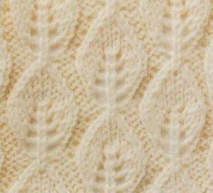 Vertical Leaf Lace Knit Stitch