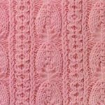 Vertical Leaves and Lace Knit Stitch Pattern