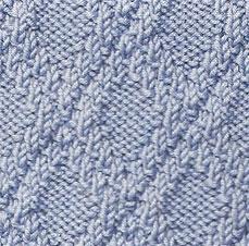 Easy Diamond Pattern Knitting Stitch