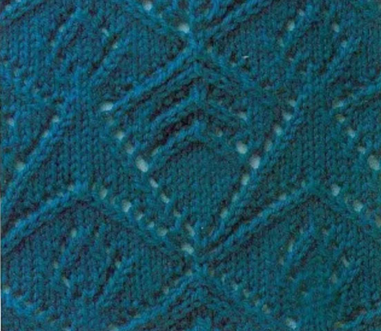 Knitting Interesting Stitches : Interesting Triangle Lace Knitting Stitch - Knitting Kingdom