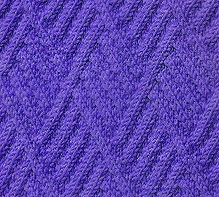 Triangle Diagonal Cabled Knit Stitch Knitting Kingdom