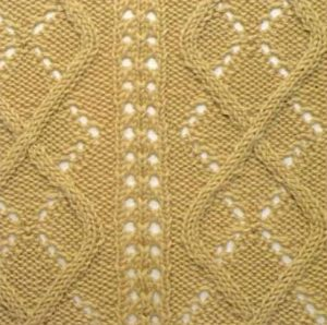 Argyle lace and cable stitch