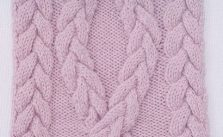 Big braided cable panel knitting stitch