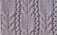 Cables and lace knit stitch