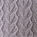 Interesting waves lace stitch