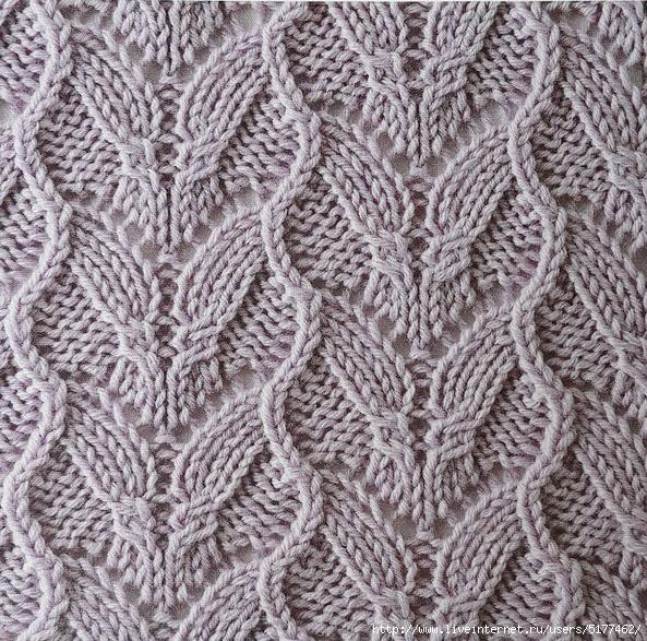 Knitting Lace Stitches Patterns : Interesting waves lace stitch knitting kingdom