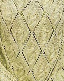 Large Diamond Lace with Cable Inside Knitting Stitch
