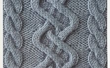 Wonky cable knitting stitch pattern