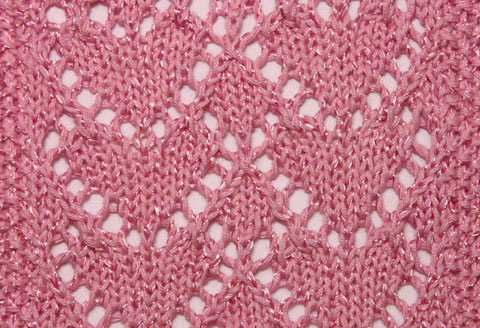 Heart Lace Knit Stitch Knitting Kingdom