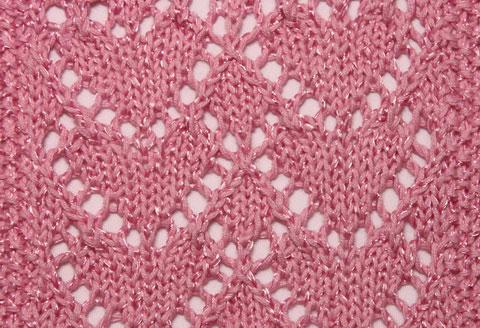 Heart Lace Knit Stitch Knitting Kingdom