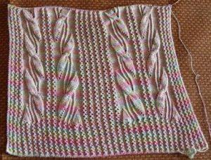 Long leaves knit stitch