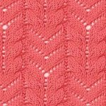 V lace and cables knitting stitch