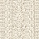 Cable Columns and Long Seed Stitch Knit Pattern
