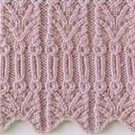 Intricate Lace Edge Knitting Stitch