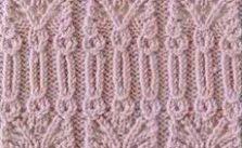 Intricate Lace Edge Knitting Stitch