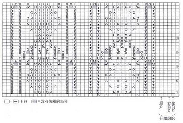 leaf-in-an-arch-knitting-stitch-chart