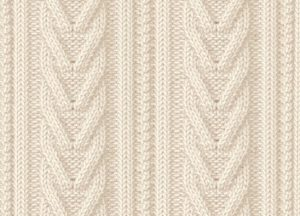 Open heart cable knitting pattern