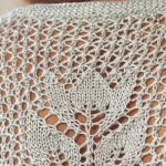 Tulip in an eyelet mesh free stitch pattern