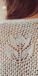 Tulip in an eyelet mesh free stitch pattern