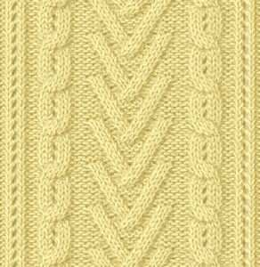 V's and Chains Cable Knitting Pattern