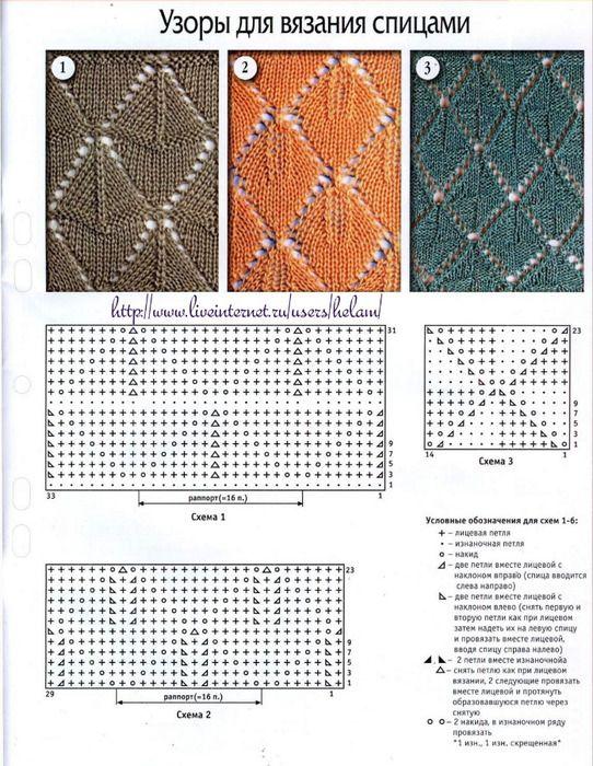 traingle-lace-knit-stitch-3-variations