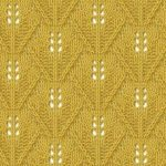 Triangular Wheat Knit Stitch Chart